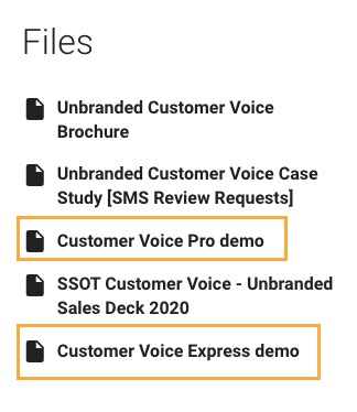 Product page files